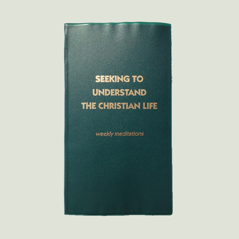 Seeking to Understand the Christian Life – Green Plastic Cover